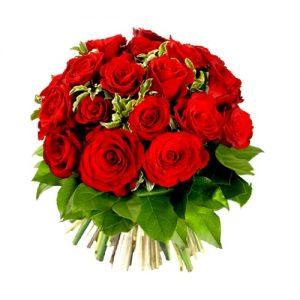 Bqt Rond De Roses Rouges AMOUR FOU