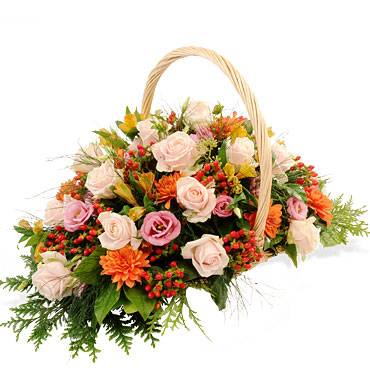 corbeille fleurie