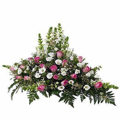 raquette conique rose blanc