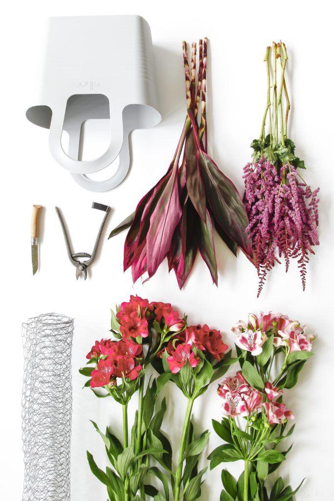 Cours d'art floral en atelier