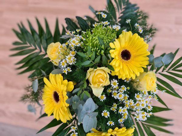 Bouquet de fleurs anti covid