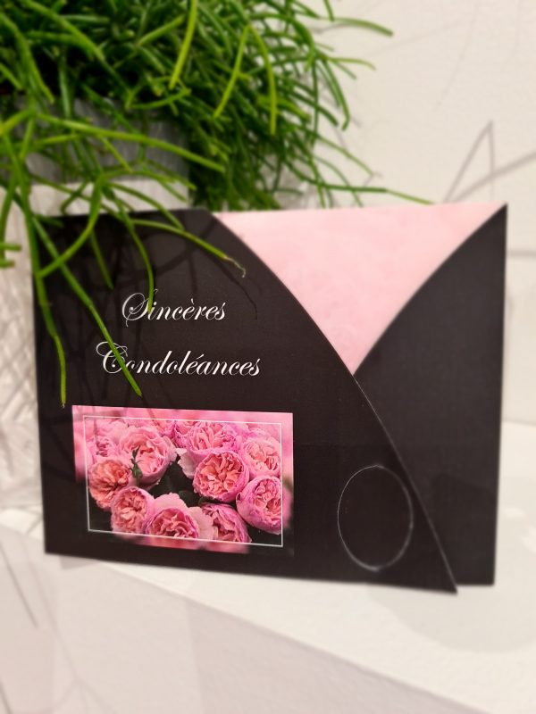 Carte condoléances et son enveloppe