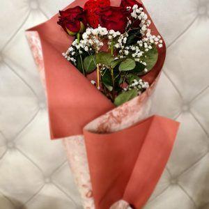 Bouquet De 3 Roses Pièces